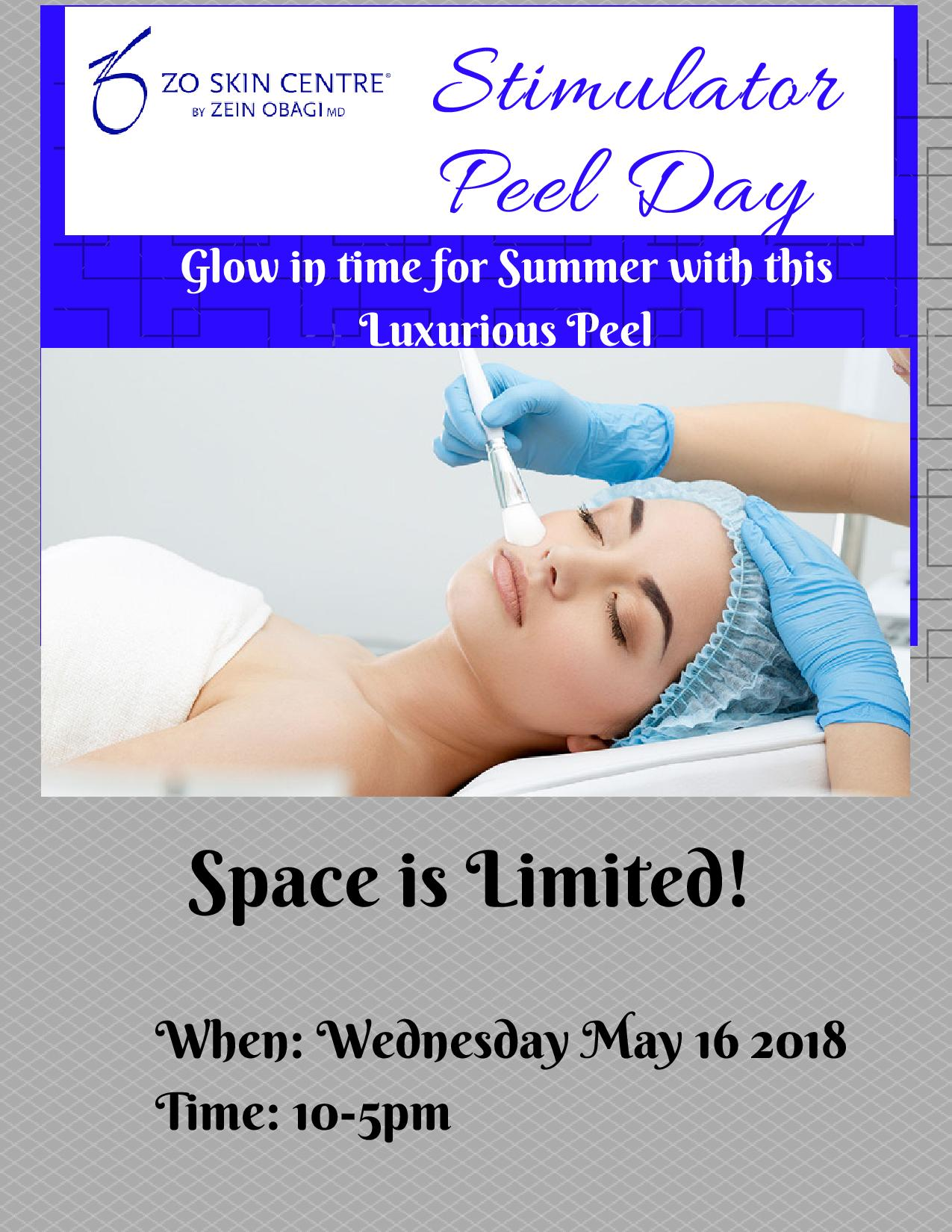 Med Spa Promotions -ZO Complimentary Peel Event -Toronto